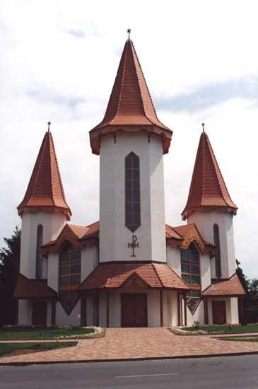 en de nieuwe kerk in Csurgó